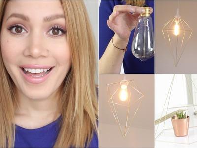 Geometrische Lampe. Deko | #SunDIY