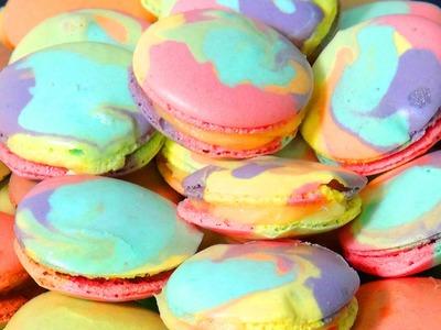 Rainbow Macarons selber machen, Macaron Rezept, einfach und gelingsicher