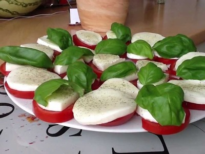 Tomate Mozzarella selber machen - ein Rezept
