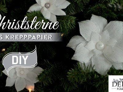 Weihnachtsdeko basteln: Christsterne aus Krepppapier How to | Deko Kitchen
