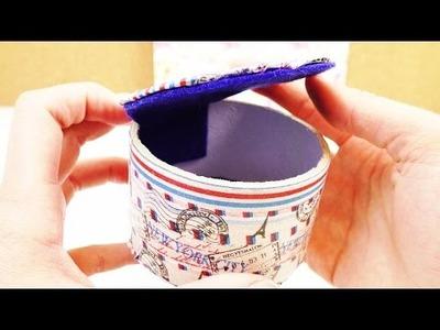 DIY Aufbewahrung | Kleine Dose mit Deckel als Aufbewahrung für Schmuck, Kosmetik ect.