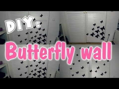 DIY: Butterfly wall ♥
