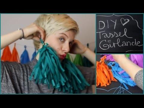 DIY - Tassel Girlande - Deko - Partydeko - Easy