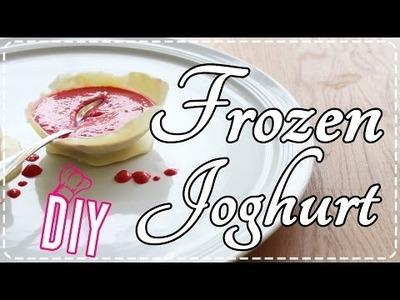 Rezept - DIY: Frozen Joghurt mit Schokobechern ♥