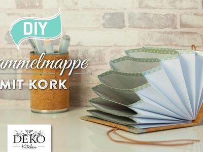 DIY: hübsche Sammelmappe mit Kork einfach selber machen [How to] Deko Kitchen