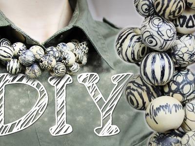 DIY Statement Kette aus großen Perlen - zweite Variante
