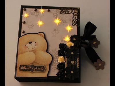 Scrapbook Teddy Licht an. Light on