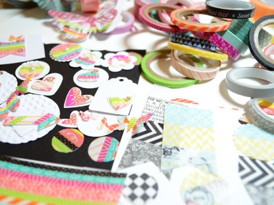 Scrapbooking. DIY,Washi Tape Die Cuts,Tutorial [Basteln mit Papier,Deutsch]