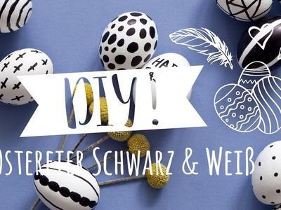 Ostereier: Bemalen im trendy Schwarz-Weiß Monochrome Look | Westwing DIY-Tipps