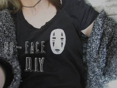 Spirited Away: No Face Tshirt DIY ♥ Studio Ghibli