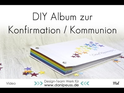 DIY Album für Kommunion. Konfirmation