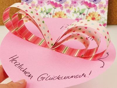 DIY Schmetterlingskarte | Kreative Glückwunschkarte & Tischkarte mit Papierstreifen | Selber machen