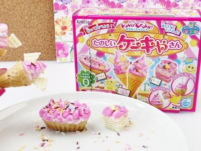 Kracie Popin' Cookin' DIY Eis Set Demo | DIY Süßigkeiten mit Eishörnchen in Vanille & Erdbeere