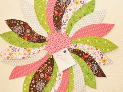 DIY Blumen Pinnwand | Zimmer Deko für den Frühling | Super schön & einfach | DIY mit Musterpapier