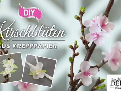 DIY-Papierblüten: hübsche Kirschblüten aus Krepppapier | Deko Kitchen
