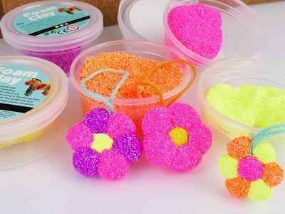 Foam Clay Wolkenschleim Blume Selber Basteln | DIY für Kinder | Bunte Blume Selber machen