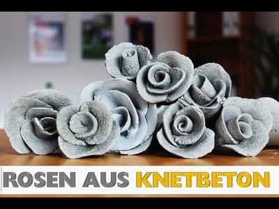DIY: Deko Rose aus Knetbeton Selber machen! In 2 min!