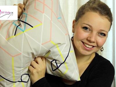 DIY Eule: Kissenbezug mit Hotelverschluss nähen