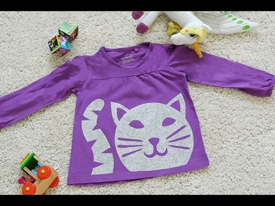 DIY Glitter Kids Shirt - Glitzer Kindershirt