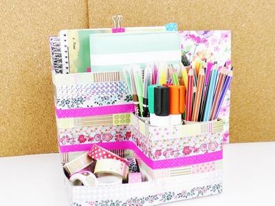 DIY Schreibtisch Aufbewahrung selber machen | Aus alten Verpackungen, Ducktape & Washitape