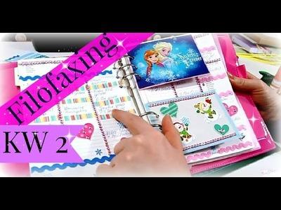 Filofaxing Wochendeko KW2 ♥ Thema Disney Frozen ♥ Filofax Planer Ideen ♥ Planer dekorieren