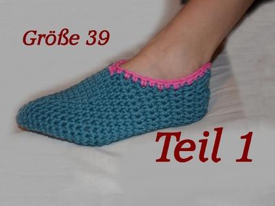 Häkeln Puschen Schuhe - Größe 39 - Teil 1 - Veronika Hug