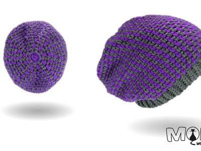 Mütze häkeln - Moss Stitch Beanie No. 4 - Long Beanie