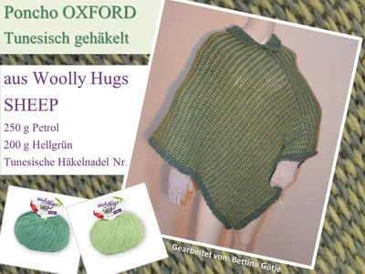 Poncho OXFORD - Woolly Hugs SHEEP - Tunesisch Häkeln mit Veronika Hug