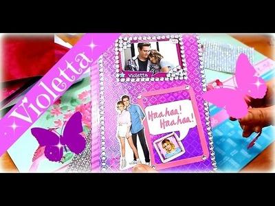 Violetta Tagebuch selber basteln | Geschenkidee für Violetta-Fans | 9999 Dinge