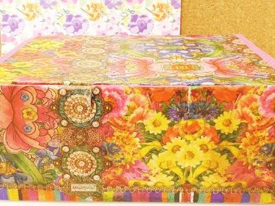 Wunderschöne Aufbewahrungsbox selber machen | Zimmer aufräumen | Ordnungsbox für Schmuck & Schätze