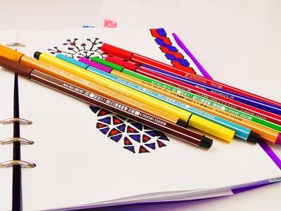 3 NEUE BILDER  im Filofax | Kathi zeichnet einfache Muster | Tolle Ideen zum Gestalten von Kalendern