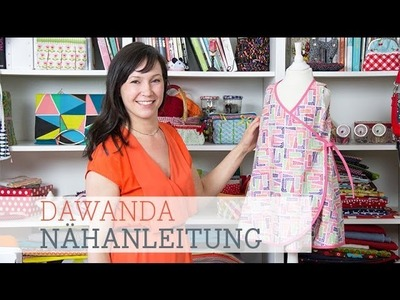 DaWanda Nähanleitung: Wickelkleid für Kinder nähen