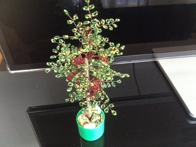Eberesche im Herbst. Teil 2.2. Perlenbäume. Wie baue ich einen Baum zusammen.