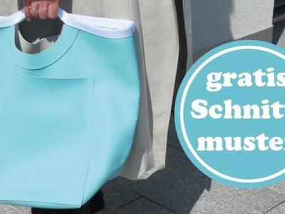 Einfacher Shopper nähen aus Skai-Kunstleder | für Anfänger | mit Schnittanleitung