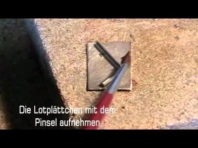 Goldschmieden lernen - 03 Löten von Edelmetall