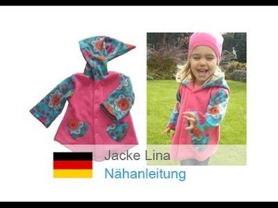 """Jacke. einfache Jacke. Fleecejacke mit Kapuze """"LINA"""" schnell und einfach selber nähen."""