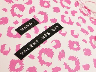 Leoparden Valentinstags Karte mit Schleife & Herzen ♥ süße Karte selber machen | 14. Februar