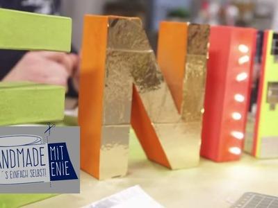 Leuchtbuchstaben | Handmade mit Enie - Mach's einfach selbst | sixx