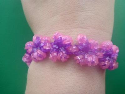 Loom Bandz Armband Bracelet Blumen Flower Kette deutsche Anleitung