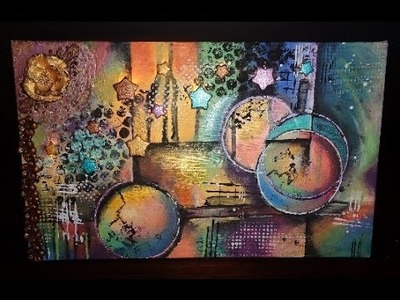 Mixed Media mit Licht Speedpainting (original ist von Michael Lang)