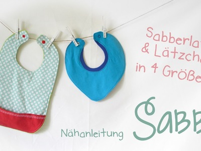 """Nähanleitung """"Sabbi"""" - Sabberlätzchen und Lätzchen mit Tasche"""
