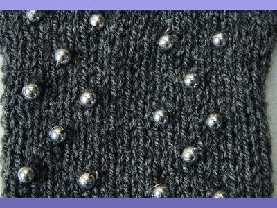 PERLEN EINSTRICKEN ANLEITUNG - Wie strickt man Perlen ein ?