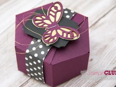 Stampin' Up! Hexagon Box mit dem Stanz- und Falzbrett für Geschenktüten