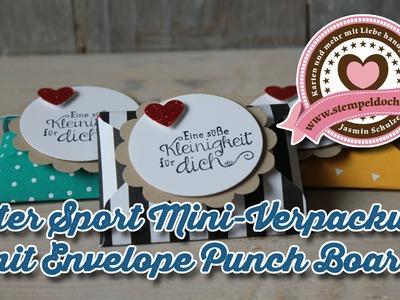 Tutorial: Envelope Punch Board Verpackung für Ritter Sport Mini mit Stampin' Up!