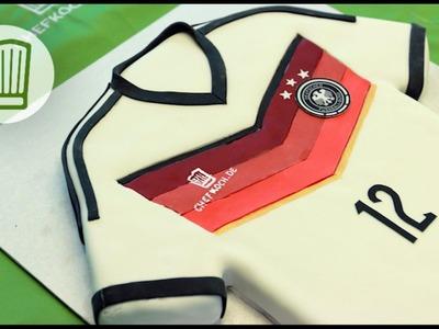 WM-Kuchen: eine Trikot-Torte zu WM 2014 - vier Sterne für unsere Elf #chefkoch