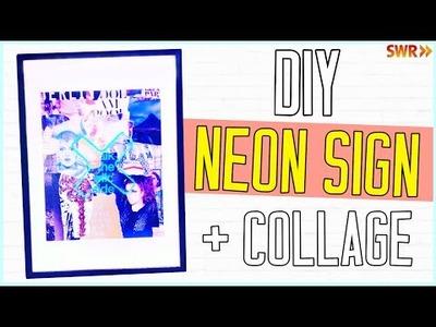DIY Neonschild + Collage ★ Geschenkidee!