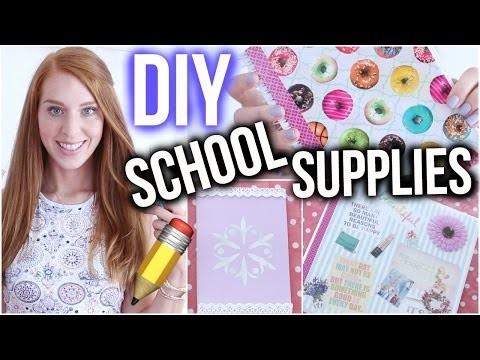 DIY SCHOOL SUPPLIES IDEEN DIE DU AUSPROBIEREN SOLLTEST! | Back to school ♡ | LaurenCocoXO