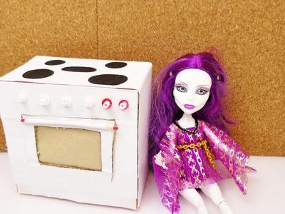 Barbie und Monster High Herd Backofen selber machen | Möbel selber bauen | Anleitung für Kinder