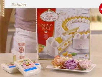 Coppenrath & Wiese – Kuchenkult – Tutorial – Festtagstorte mit Marzipan überziehen