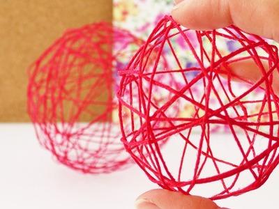Deko Kugel aus Fäden | Frühlingsdeko aus Fäden & Ballons | Zimmerdeko einfach selber machen | DIY
